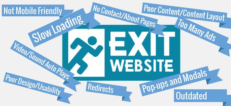 چرا کاربران یک سایت را ترک میکنند؟