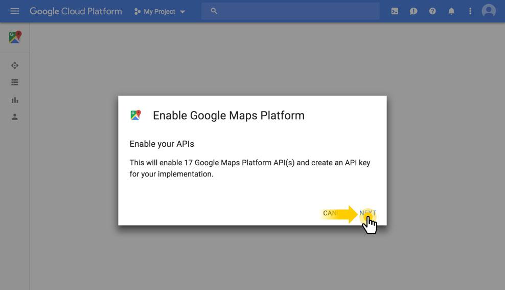 Google Map API-مرحله سوم