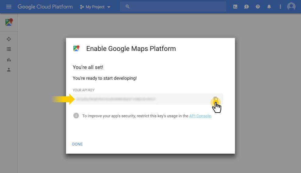Google Map API-مرحله سوم2