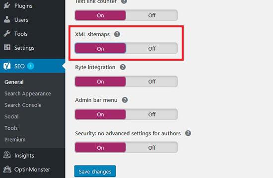 فعال کردن نقشه های XML و ایندکس گزاری سریع مطالب